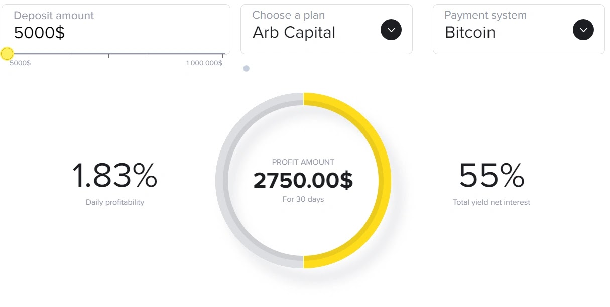 Инвестиционные планы Crypto-ARB 4