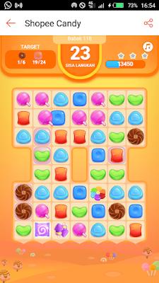 Skor Maksimal Shopee Candy Level 118
