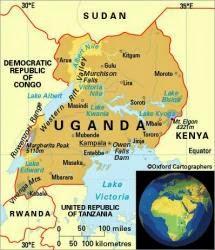 Peta Negara Uganda