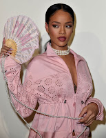 Image result for pictures from rihanna as she walks the runway for her puma collaboration