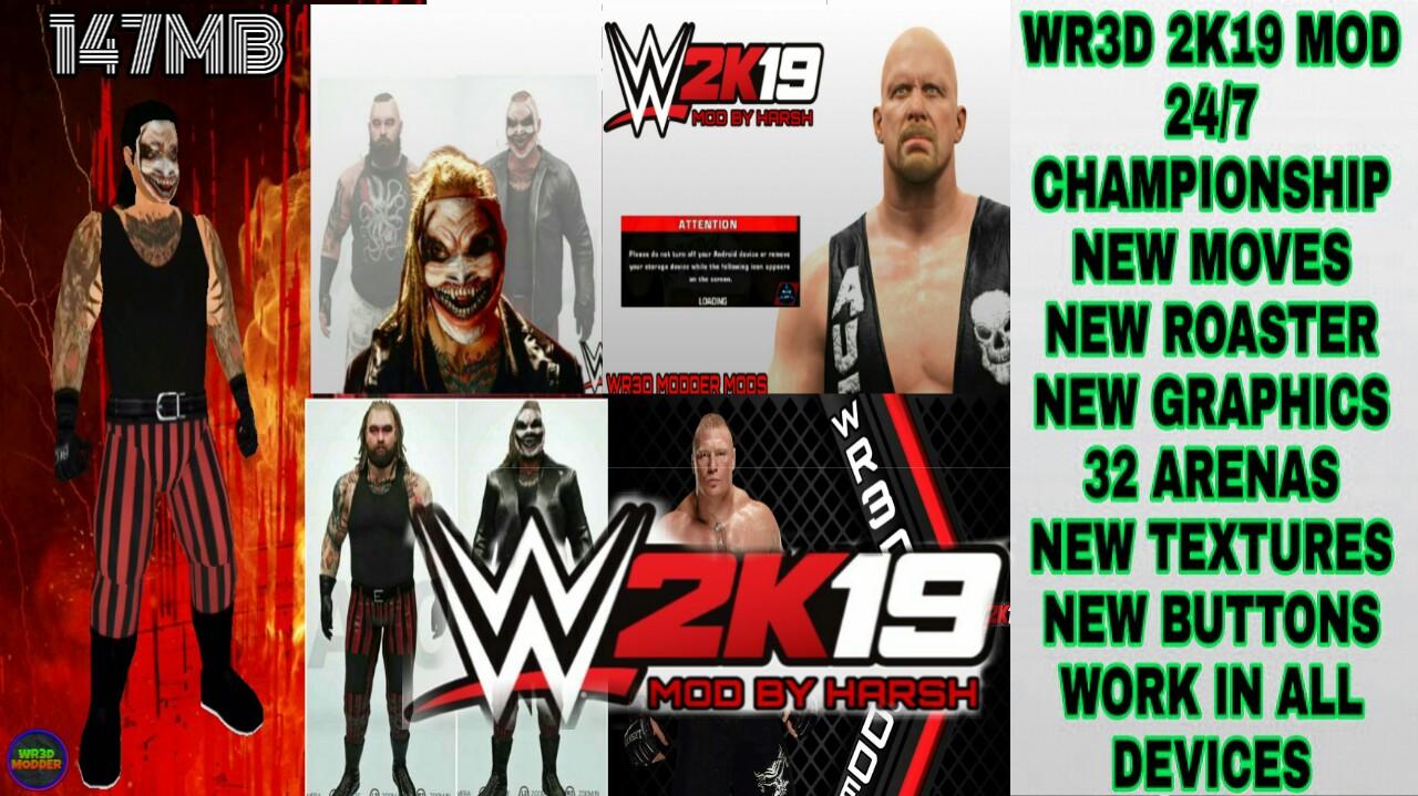 WWE UPDATES MODDER : WR3d 2k19 Mod by wr3d Modder released