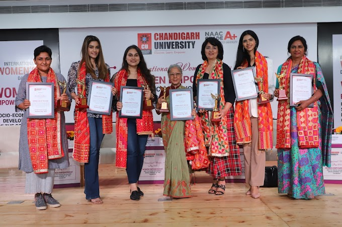 Chandigarh University honours 7 women personalities with Women Icon of the Year Award