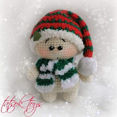 Рождественский гномик крючком