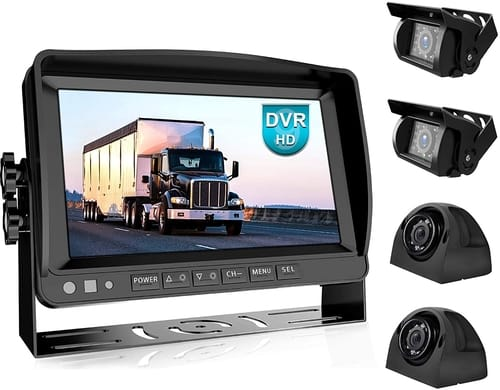 Fookoo DY904 HD Wired Backup Camera System Kit