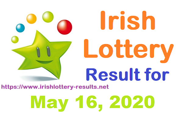 Irish Lottery Results for Saturday, May 16, 2020