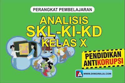 Analisis SKL-KI-KD Pendidikan Anti Korupsi Kelas X