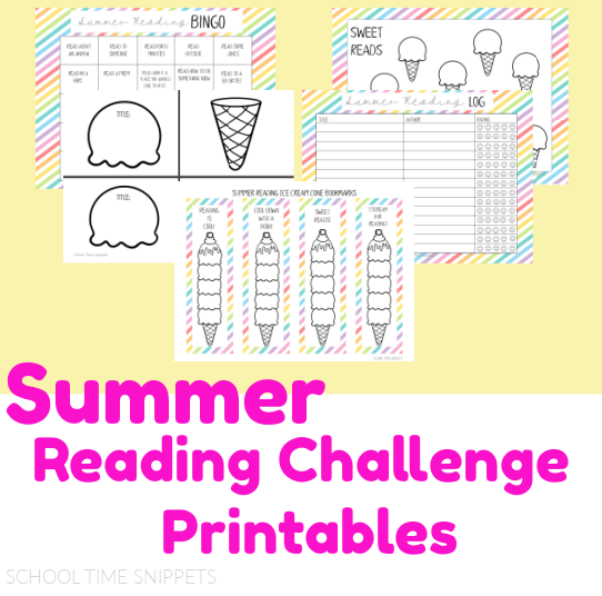 summer reading challenge printable pack