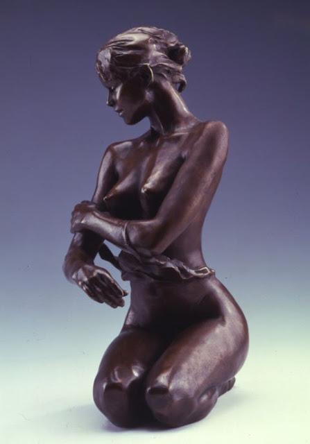 """Bronze Sculpture by French Artist-""""Jacques Le Nantec"""" 1940"""