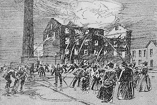 Cleator Moor Flour Mill Fire, 1892