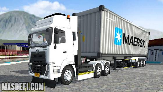 livery ud quester trailer kontainer maersk