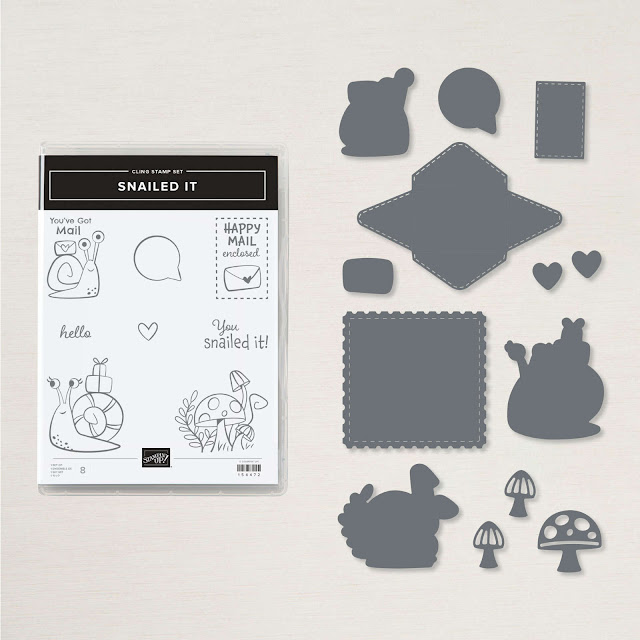 Snail It Stamp Set and Snail Dies
