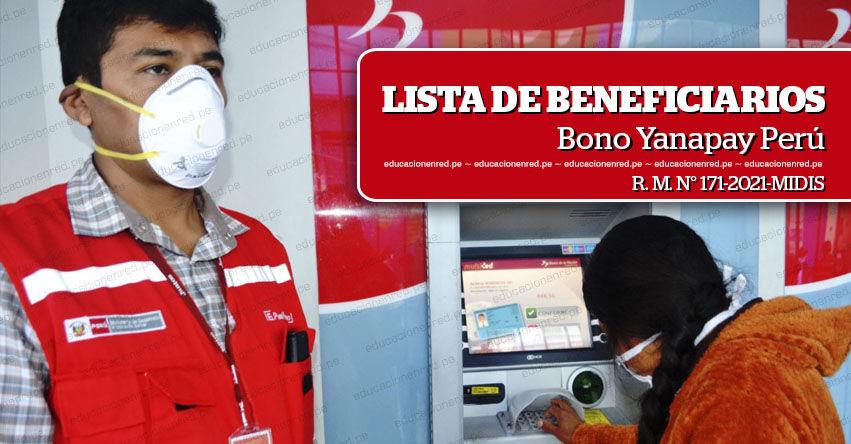 Lista de Beneficiarios del Bono Yanapay Perú, según padrón aprobado por el MIDIS