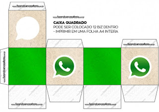 Cajas  cubo de WhatsApp para imprimir gratis.