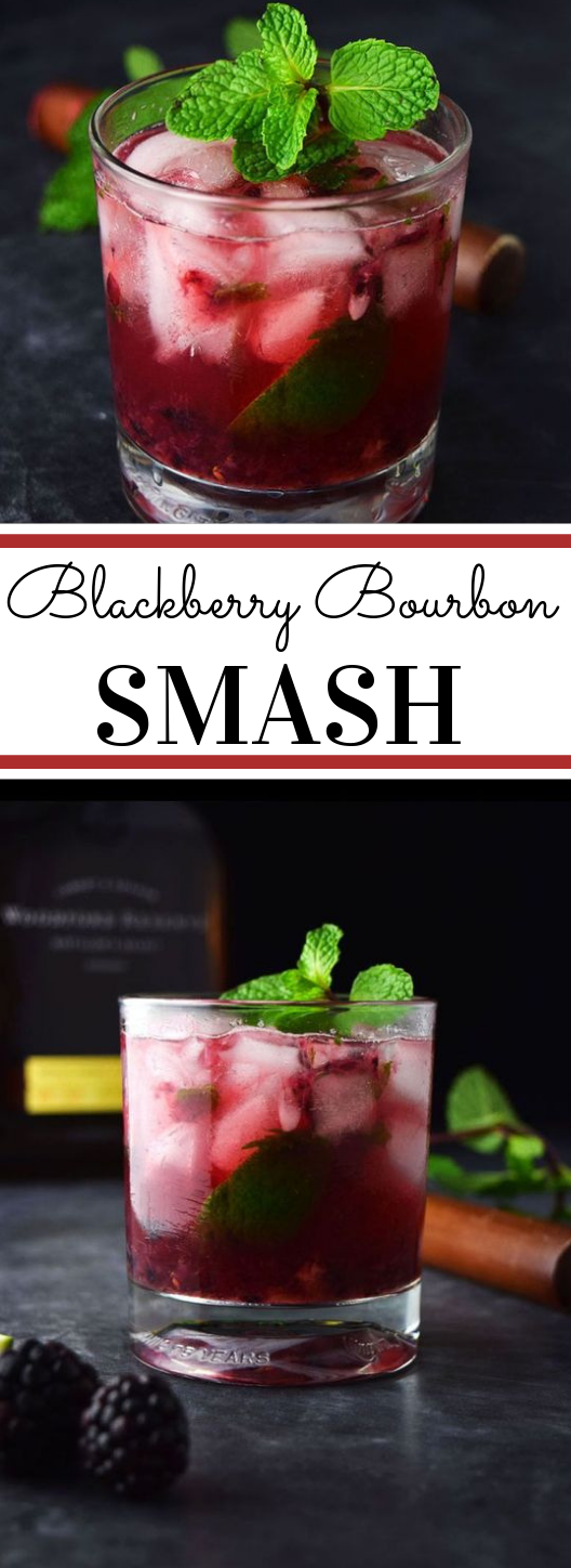 Blackberry Bourbon Smash #recipes #drink #blacberry #smash #cocktail