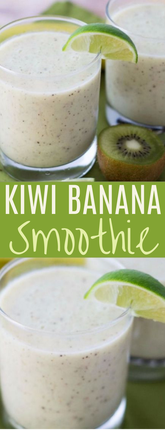 Kiwi Banana Smoothie #drinks #healthy