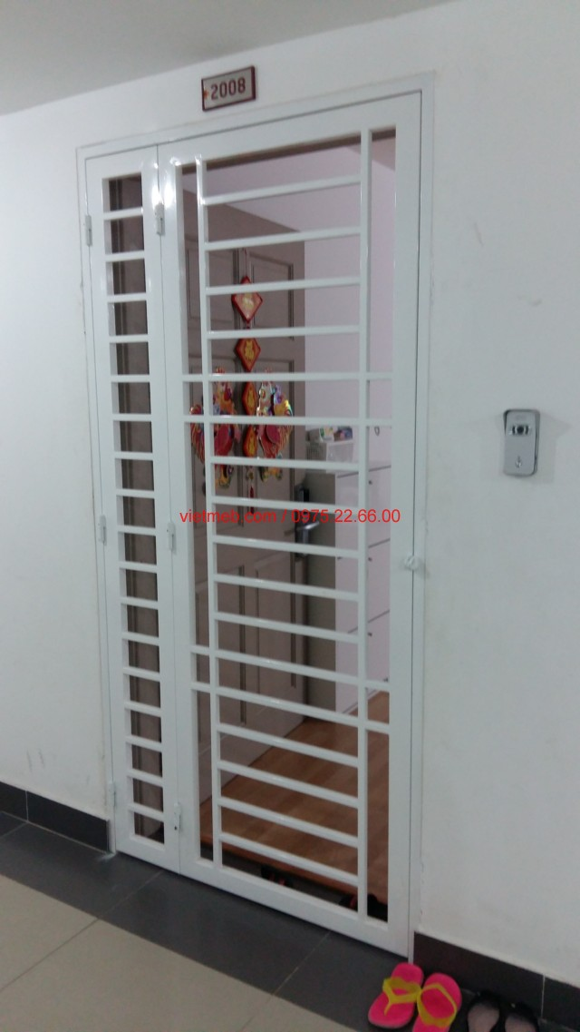 cửa sắt chung cư sơn tĩnh điện
