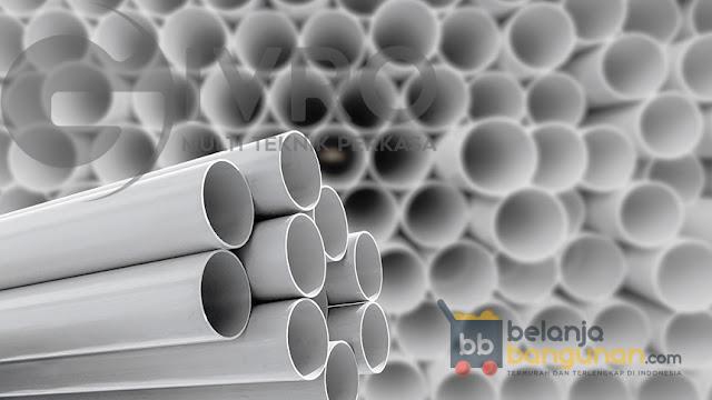 Kami Sedia Berbagai Merk & Ukuran Pipa PVC - HDPE