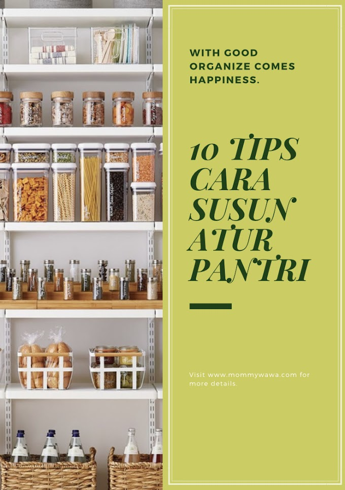 10 Tips Cara Susun Atur Barang Pantry Anda