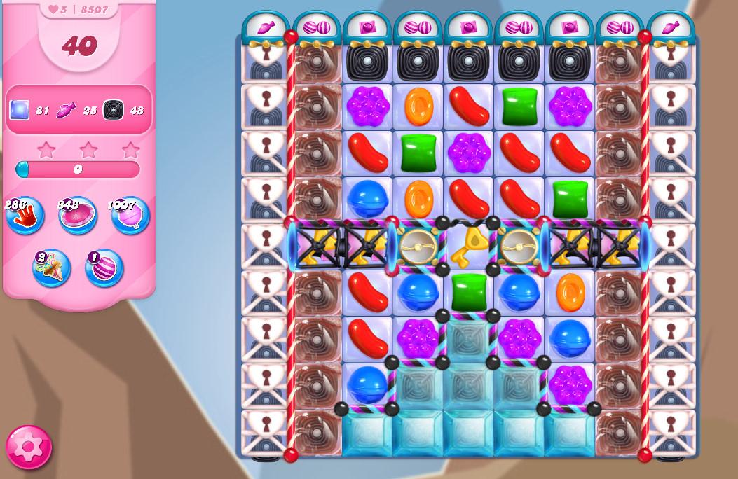 Candy Crush Saga level 8507