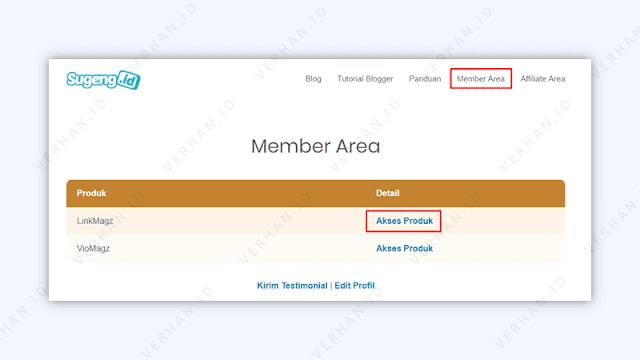 akses produk di member area sugeng.id