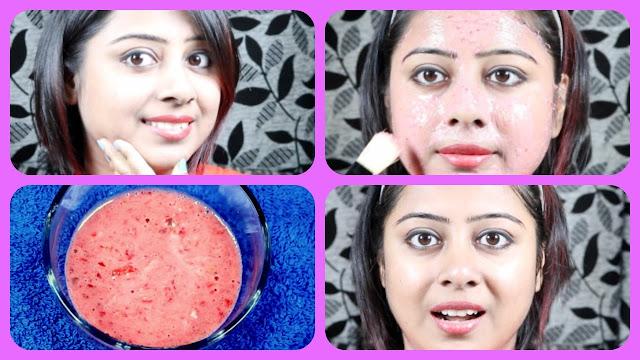 Masque facial aux fraises pour le traitement de l'acné special peau sensible