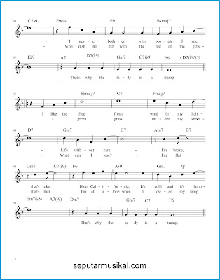 The Lady Is a Tramp 2 chords jazz standar