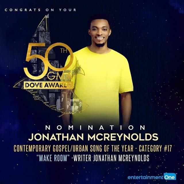 [Stories] 50th GMA Dove Award - Jonathan Mcreynolds