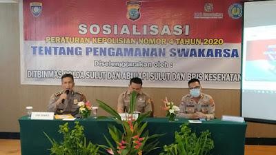 Ditbinmas Polda Sulut Sosialisasikan Perpol Nomor 4 Tahun 2020 Tentang Pam Swakarsa.