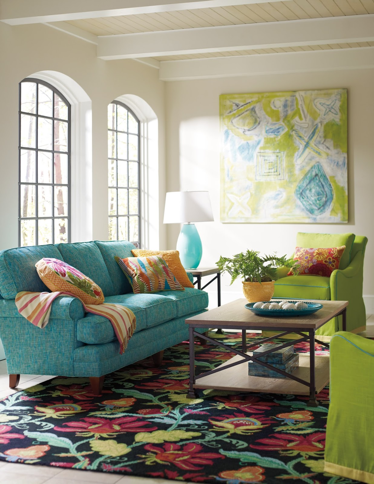 Teal Sofa Living Room Decor: Harmony And Home: URHOUZZ Gorgeous
