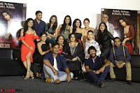 Vidya Balan with Ila Arun Gauhar Khan and other girls and star cast at Trailer launch of move Begum Jaan 023.JPG