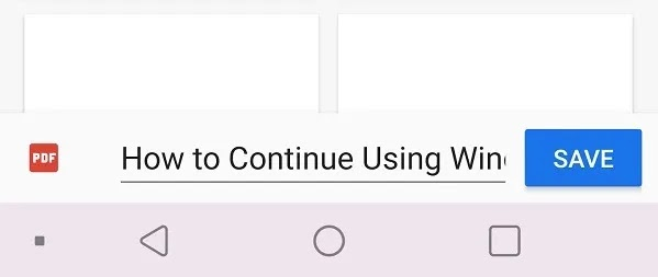 كيفية الطباعة إلى Pdf من Chrome على Android حفظ الملف