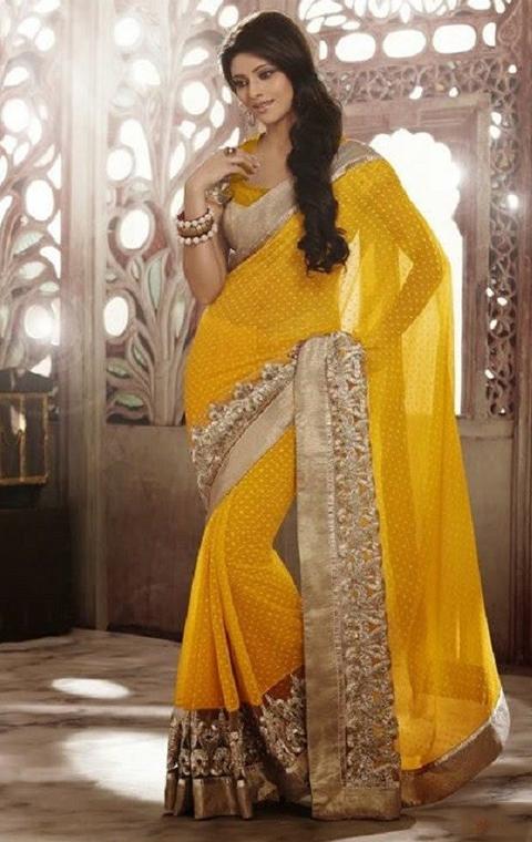 10 Contoh Model Baju Sari India Terbaru 2016