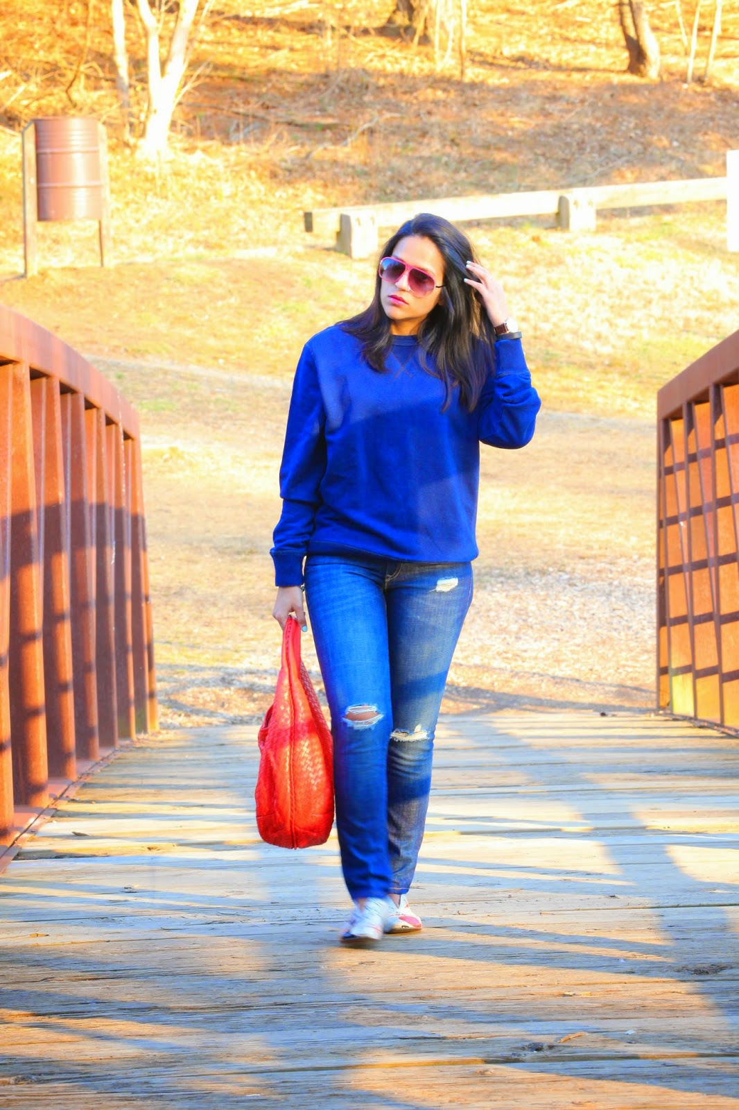 All Gap Outfit, All Blue, Tanvii.com