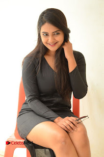 Actress Neha Deshpande Pictures in Black Short Dress at Bullet Movie Opening  0073.JPG