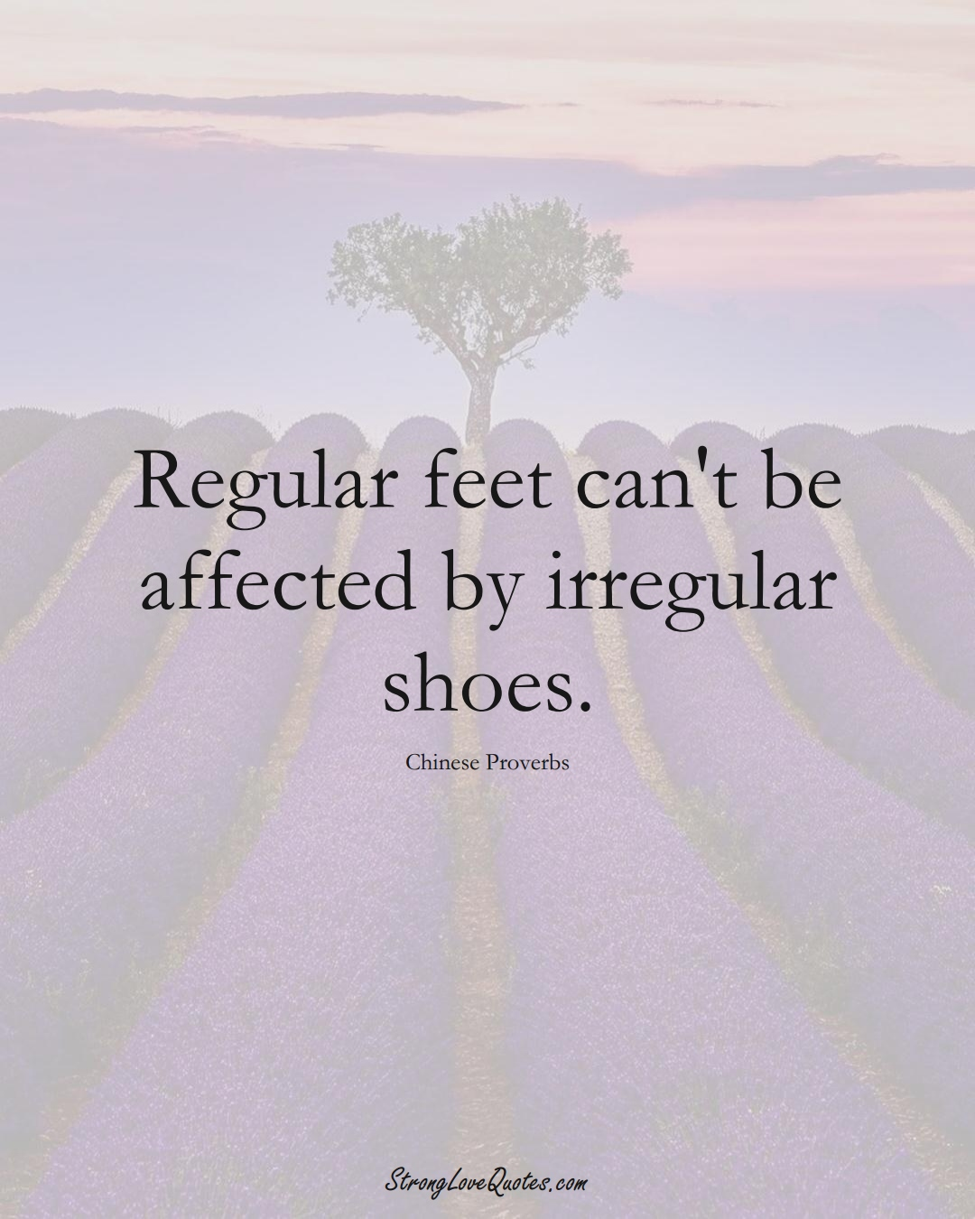 Regular feet can't be affected by irregular shoes. (Chinese Sayings);  #AsianSayings