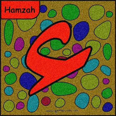 gambar mewarnai huruf hijaiyah Hamzah