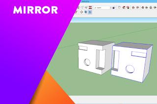 Cara mirror objek di dalam SketchUp