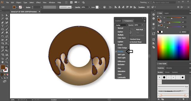 Donut in Adobe Illustrator