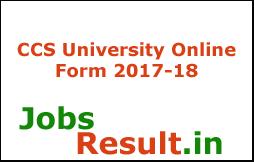 CCS University Online Form 2017-18