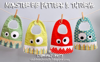 http://www.stubbornlycrafty.com/2012/08/monster-bib-pattern-tutorial/