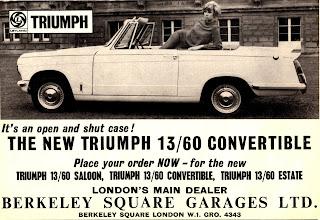 Berkeley Square Garages Ltd, Triumph Herald 13/60 Convertible 1967 advert