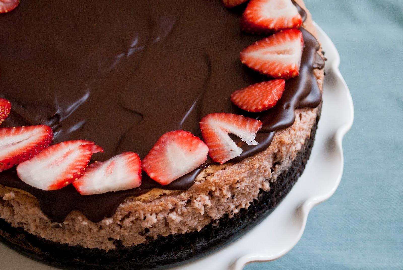 Ryan Bakes: Chocolate Strawberry Cheesecake