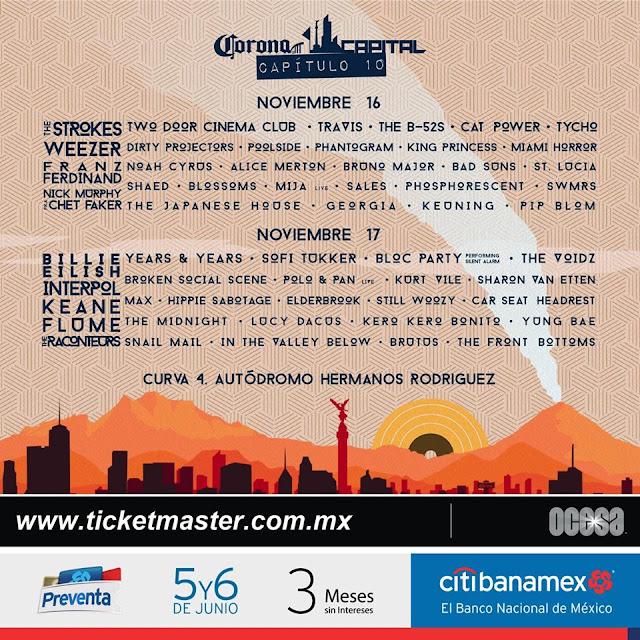 boletos line up corona capital 2019