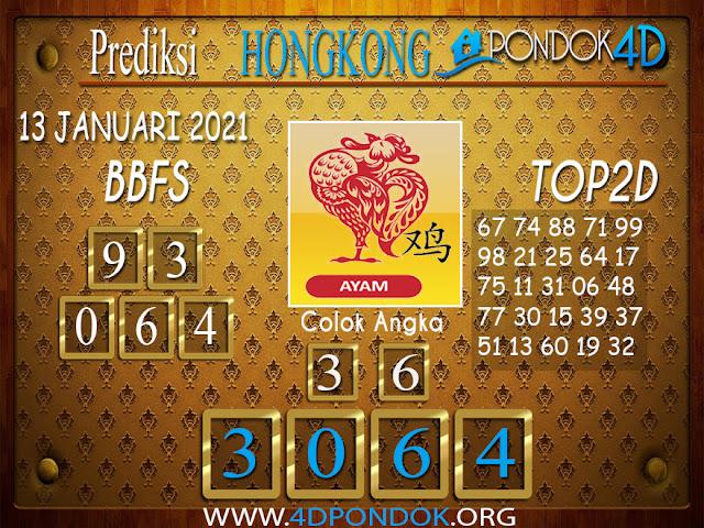 Prediksi Togel HONGKONG PONDOK4D 13 JANUARI 2021