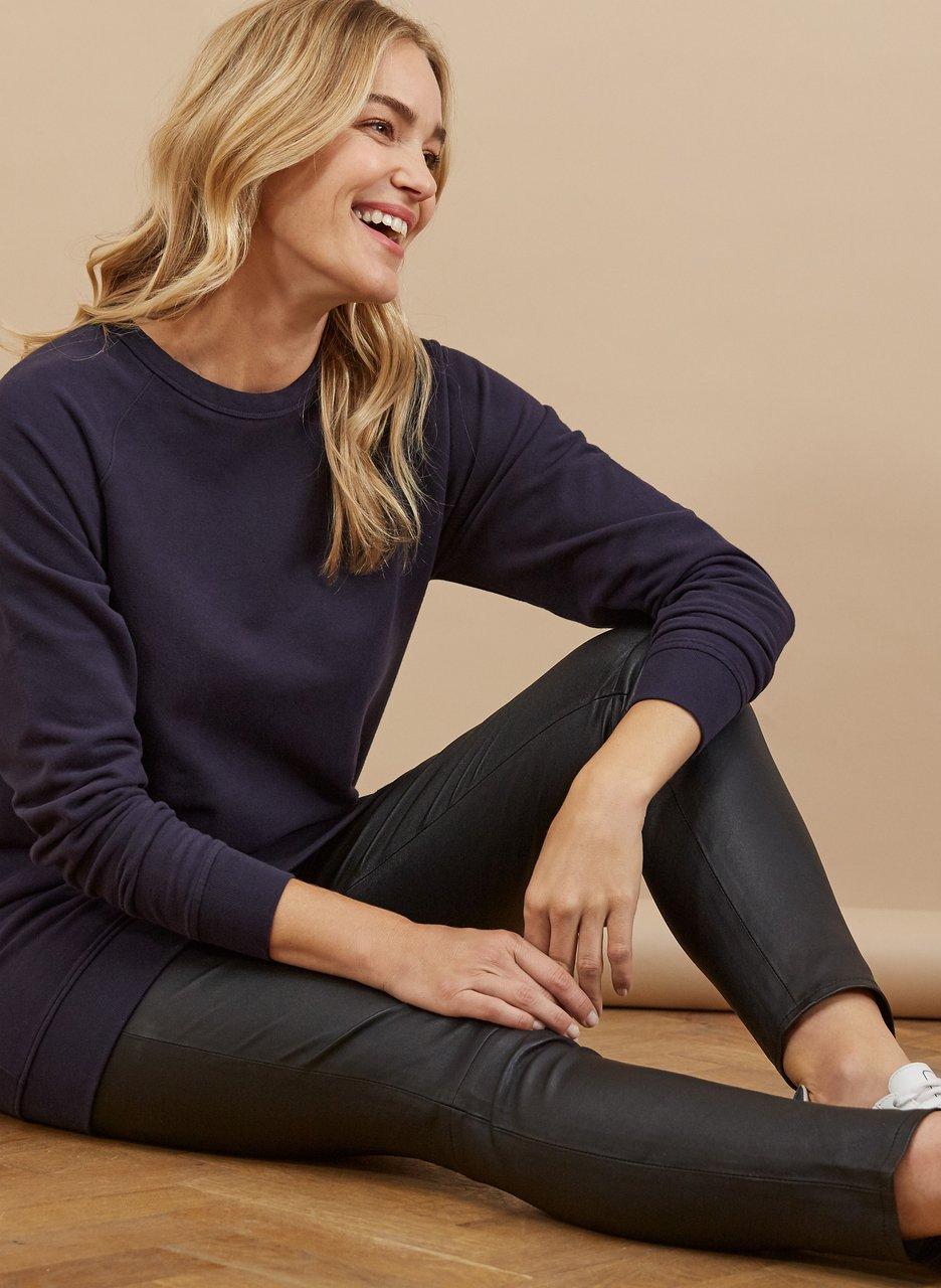 my midlife fashion, Baukjen Marte Organic longline sweatshirt
