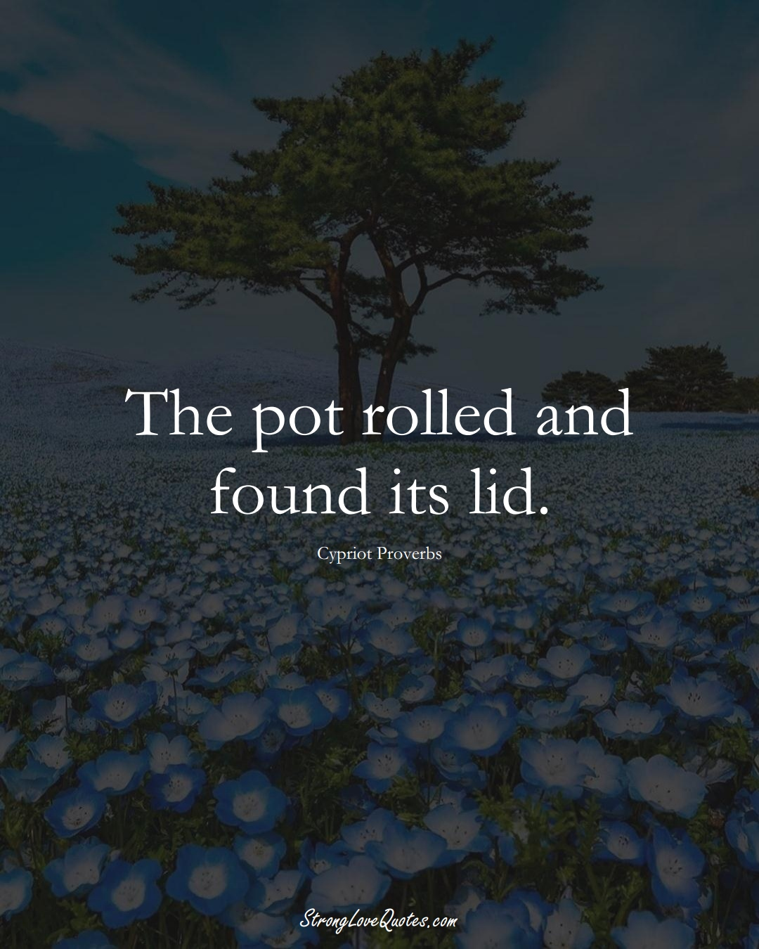 The pot rolled and found its lid. (Cypriot Sayings);  #MiddleEasternSayings