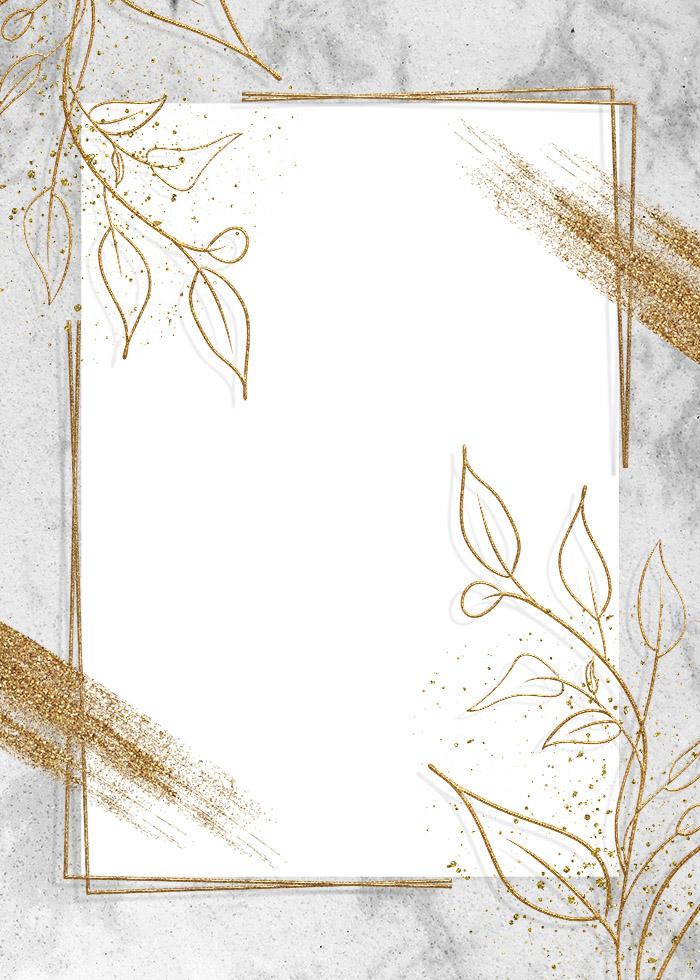 Stroke Gold Foil Pen Brush Editable PSD