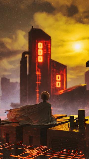 Free City Sunset Alone Meditation wallpaper
