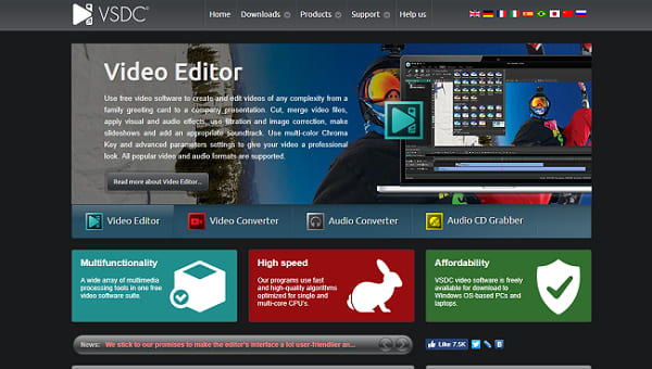 VSDC Video editing software