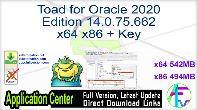 Toad for Oracle 2020 Edition 14.0.75.662 x64 x86 + Key